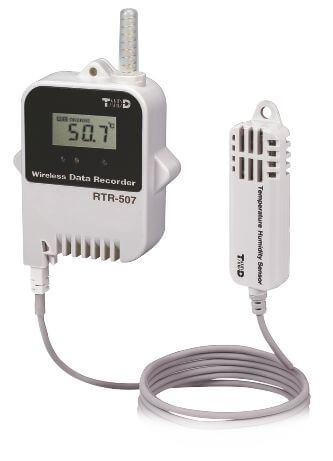 Radiowy rejestrator temperatury i wilgotności RTR-507, sonda zewnętrzna, zwiększony zakres i dokładność