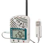 Radiowy rejestrator temperatury, wilgotności, dwutlenku węgla CO2 RTR-576, sonda zewnętrzna, zwiększony zakres i dokładność