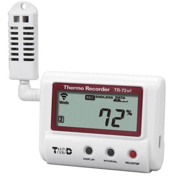 Rejestrator temperatury i wilgotności TR-72wf z WiFi