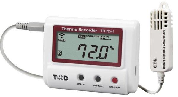 Rejestrator temperatury i wilgotności TR-72wf-H z WiFi (zwiększony zakres i dokładność)