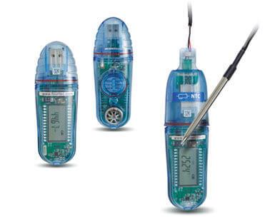 Rejestratory temperatury i wilgotności USB, seria Microlite