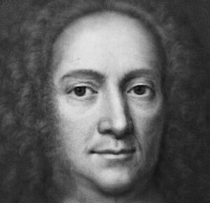 Komputerowo wygenerowany portret Daniela Gabriela Fahrenheita będący dziełem naukowców zPolitechniki Gdańskiej